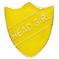 ShieldBadge Head Girl Yellow</br>SB018Y